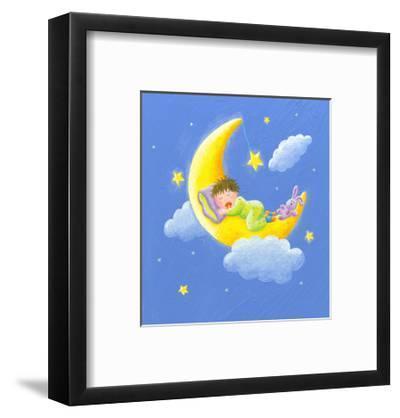 Lullaby-andreapetrlik-Framed Art Print
