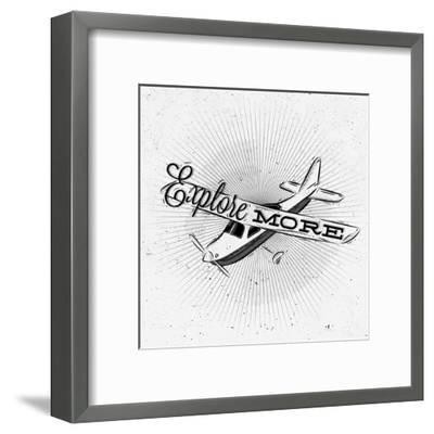 Tourist Poster Plane-anna42f-Framed Art Print