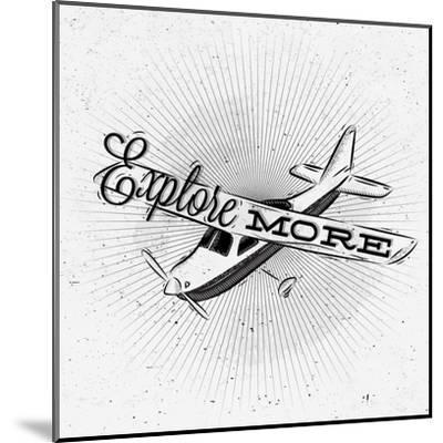 Tourist Poster Plane-anna42f-Mounted Art Print