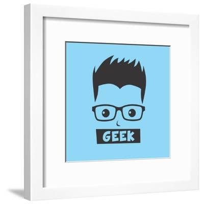 Geek Cartoon Character-vector1st-Framed Art Print