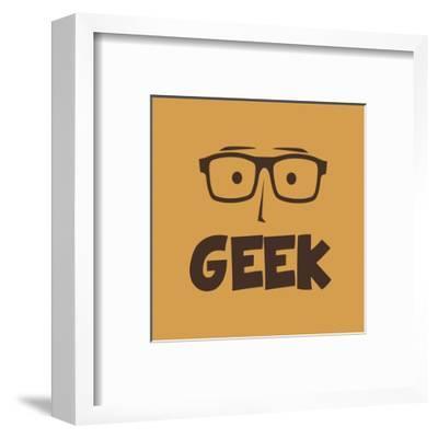 Geek Guy-vector1st-Framed Art Print