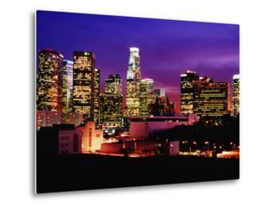 City Skyline, Los Angeles, California-Richard Cummins-Metal Print