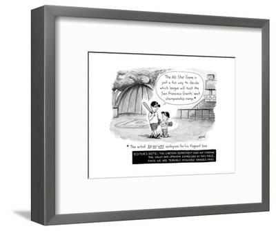 MLB All Star Game - Cartoon-Tom Toro-Framed Premium Giclee Print