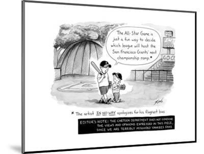 MLB All Star Game - Cartoon-Tom Toro-Mounted Premium Giclee Print
