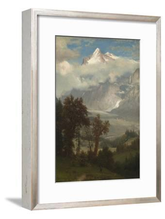 View of the Wetterhorn from the Valley of Grindelwald-Albert Bierstadt-Framed Giclee Print