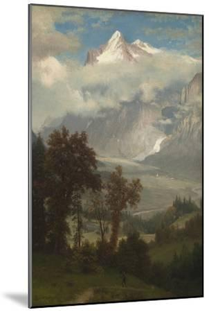View of the Wetterhorn from the Valley of Grindelwald-Albert Bierstadt-Mounted Giclee Print