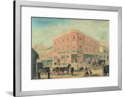 Corner of George and Hunter Streets, Sydney, 1849-A. Torning-Framed Giclee Print