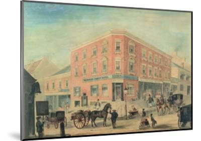 Corner of George and Hunter Streets, Sydney, 1849-A. Torning-Mounted Giclee Print