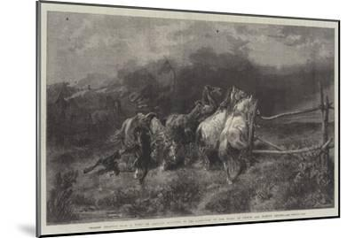 Horses Escaping from a Fire-Adolf Schreyer-Mounted Giclee Print