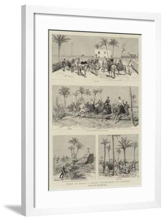 Sport in Egypt, a Ladies' Paper-Chase on Donkeys-Adrien Emmanuel Marie-Framed Giclee Print
