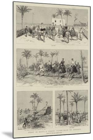 Sport in Egypt, a Ladies' Paper-Chase on Donkeys-Adrien Emmanuel Marie-Mounted Giclee Print