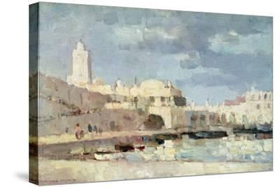 The Harbour at Algiers, 1876-Albert-Charles Lebourg-Stretched Canvas Print