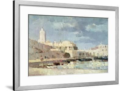 The Harbour at Algiers, 1876-Albert-Charles Lebourg-Framed Giclee Print