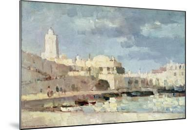 The Harbour at Algiers, 1876-Albert-Charles Lebourg-Mounted Giclee Print