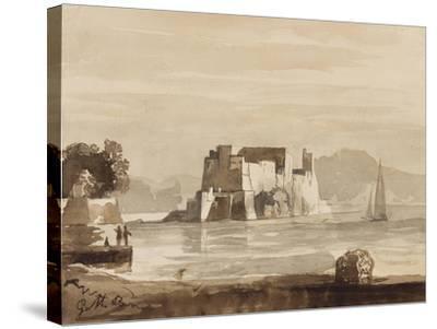 Castel Dell'Ovo-Achille Vianelli-Stretched Canvas Print