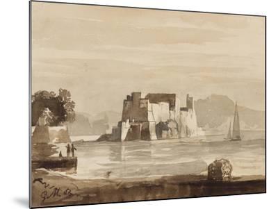 Castel Dell'Ovo-Achille Vianelli-Mounted Giclee Print