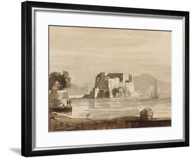 Castel Dell'Ovo-Achille Vianelli-Framed Giclee Print