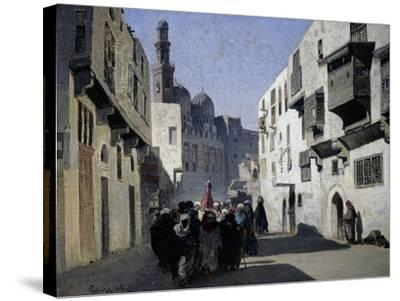 Mosque of Tulun, 1860-Alberto Pasini-Stretched Canvas Print