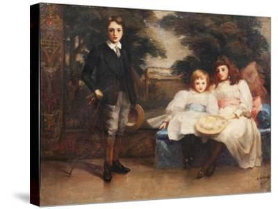 The Three Children of the 4th Marquis of Cholmondeley-Ada Holland-Stretched Canvas Print