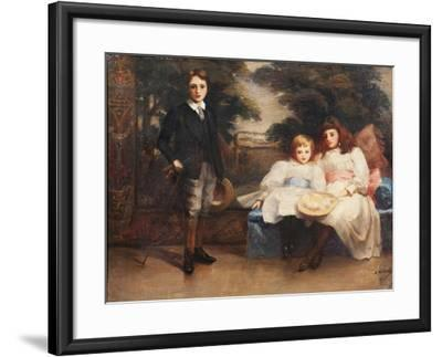 The Three Children of the 4th Marquis of Cholmondeley-Ada Holland-Framed Giclee Print
