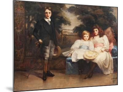 The Three Children of the 4th Marquis of Cholmondeley-Ada Holland-Mounted Giclee Print