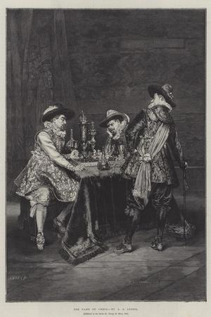 The Game of Chess-Adolphe Alexandre Lesrel-Stretched Canvas Print