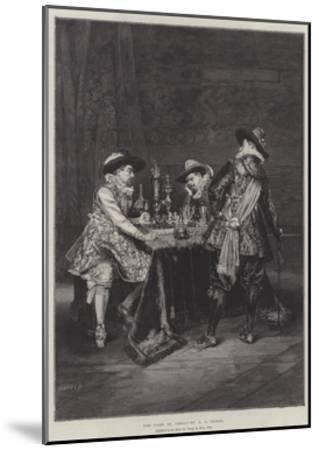 The Game of Chess-Adolphe Alexandre Lesrel-Mounted Giclee Print