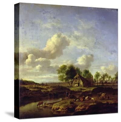 The Little Farm, 1661-Adriaen van de Velde-Stretched Canvas Print