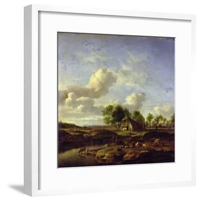The Little Farm, 1661-Adriaen van de Velde-Framed Giclee Print