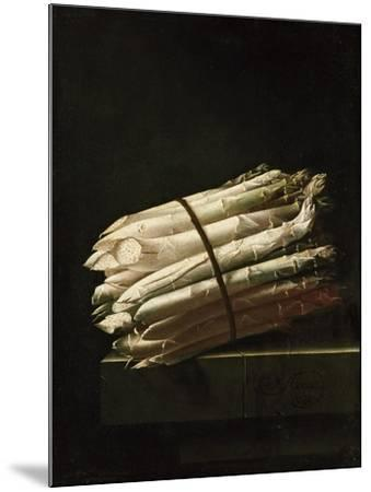 Still Life of Asparagus, 1699-Adrian Coorte-Mounted Giclee Print