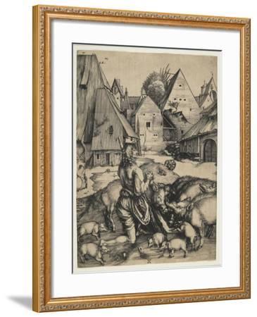 The Prodigal Son, 1496-Albrecht D?rer-Framed Giclee Print
