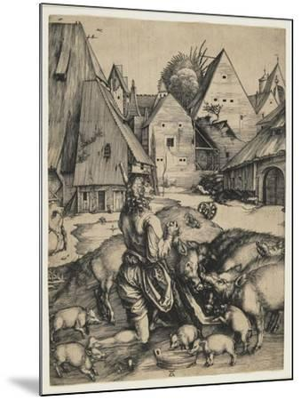 The Prodigal Son, 1496-Albrecht D?rer-Mounted Giclee Print