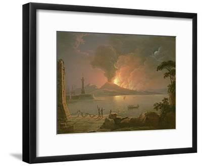 A View of Mount Vesuvius Erupting-Abraham Pether-Framed Premium Giclee Print