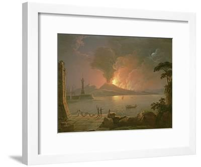 A View of Mount Vesuvius Erupting-Abraham Pether-Framed Giclee Print
