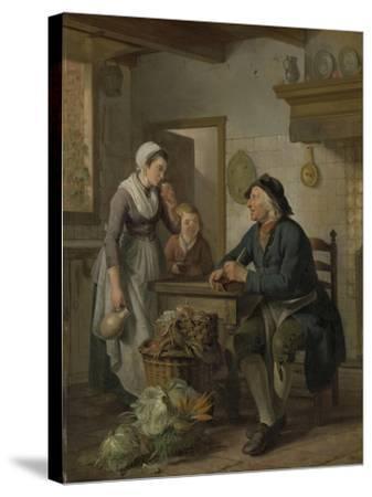 Morning Visit, 1796-Adriaen de Lelie-Stretched Canvas Print