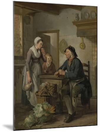 Morning Visit, 1796-Adriaen de Lelie-Mounted Giclee Print