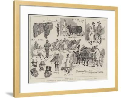 The Smithfield Club Cattle Show at the Agricultural Hall-Alfred Chantrey Corbould-Framed Giclee Print