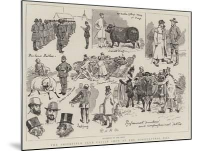The Smithfield Club Cattle Show at the Agricultural Hall-Alfred Chantrey Corbould-Mounted Giclee Print