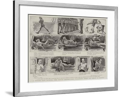 A Tiring Day During the Naval Manoeuvres, Tallboys Tries to Enjoy a Siesta-Alexander Stuart Boyd-Framed Giclee Print