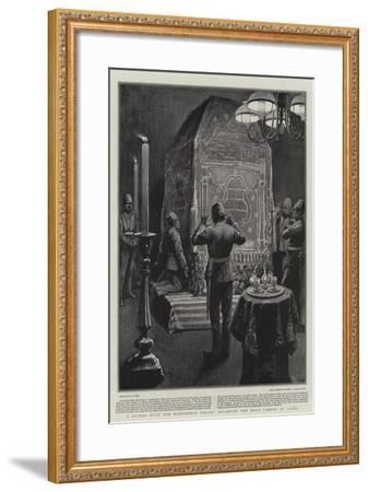 A Sacred Duty for Mahomedan Police, Guarding the Holy Carpet at Cairo-Alexander Stuart Boyd-Framed Giclee Print