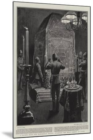 A Sacred Duty for Mahomedan Police, Guarding the Holy Carpet at Cairo-Alexander Stuart Boyd-Mounted Giclee Print