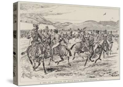 A Set of Lancers on Mule-Back in Beluchistan, India-Alfred Chantrey Corbould-Stretched Canvas Print