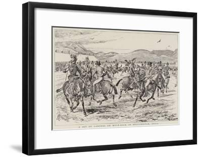 A Set of Lancers on Mule-Back in Beluchistan, India-Alfred Chantrey Corbould-Framed Giclee Print