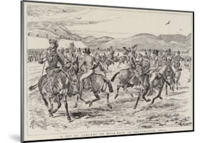 A Set of Lancers on Mule-Back in Beluchistan, India-Alfred Chantrey Corbould-Mounted Giclee Print