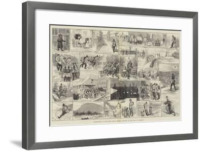Reminiscences of the Easter Monday Review, Sketches on the March to Brighton-Alfred Courbould-Framed Giclee Print