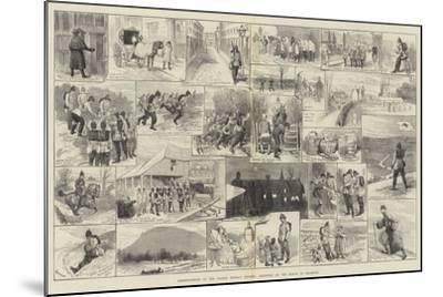 Reminiscences of the Easter Monday Review, Sketches on the March to Brighton-Alfred Courbould-Mounted Giclee Print