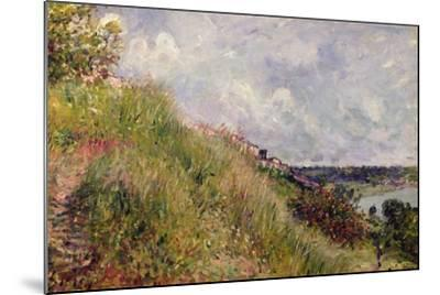 The Seine, View of the Slopes of By, 1881-Alfred Sisley-Mounted Giclee Print