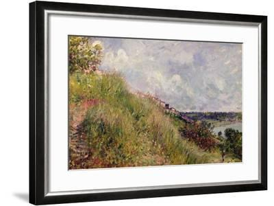 The Seine, View of the Slopes of By, 1881-Alfred Sisley-Framed Giclee Print