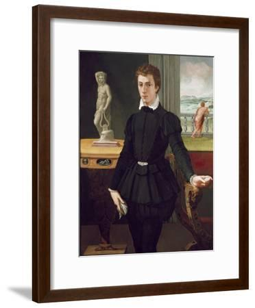 Portrait of a Young Man, Post 1560-Alessandro Allori-Framed Premium Giclee Print