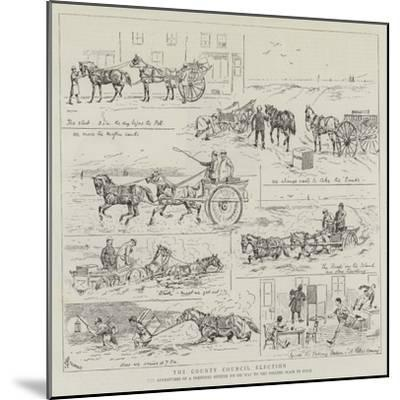 The County Council Election-Alfred Chantrey Corbould-Mounted Giclee Print